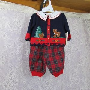 Vintage Baby Togs Baby Girl 3/6M 3 Piece Outfit